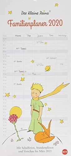Der Kleine Prinz Familienplaner. Wandkalender 2020. Monatskalendarium. Spiralbindung. Format 21 x 45 cm