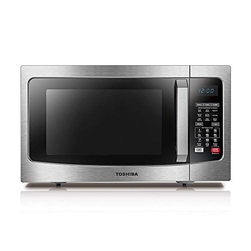 Toshiba EC042A5C-SS Countertop Microwave oven with Convection, Smart Sensor, Sound on/off Function and LCD Display, 1.5 Cu.ft/1000W, Stainless Steel