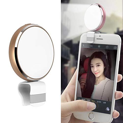 Ring lichten Live-LED-Fill Light met Mirror Statief voor livestream, fotograferen, portretten, (Color : Gold)