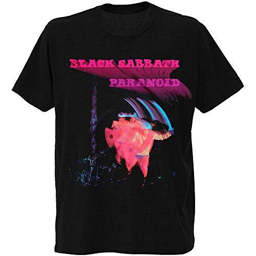 Bravado Men's Black Sabbath Paranoid Motion Trails T-Shirt, Black, Medium
