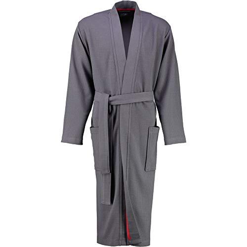 LAGO Bademantel Herren Kimono 816 anthrazit - 72 M