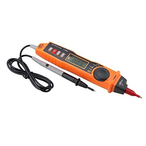 Sin contacto Tipo de lápiz Multímetro eléctrico Voltaje digital Medidor portátil Probador portátil Voltímetro de resistencia de alta precisión Amperímetro Ohmímetro con retroiluminación