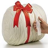 MeriWoolArt 100% XXL Merino Wolle Garn 2 cm Dicke Wolle Garn, Filzwolle Trockenfilzen Nassfilzen, DIY Klobiges Wolle Garn Decke, Decke Baby Wolle, Arm Stricken Decke Garn (Weiß, 100 g)