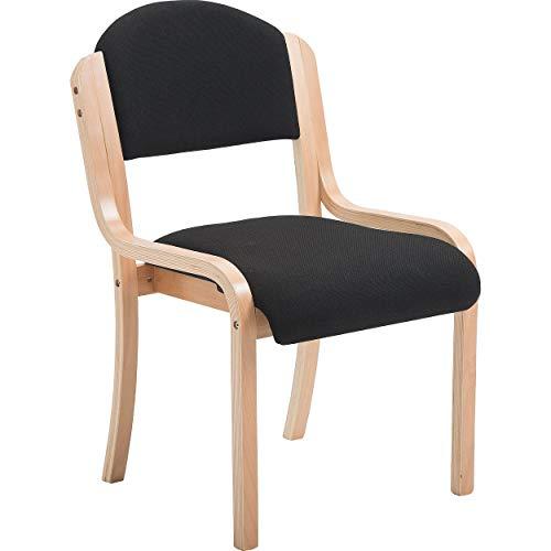 Office Furniture Online Stapelbarer Stuhl mit Holzrahmen   Devonshire   Schwarz