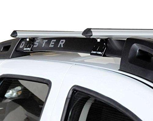 Alu Relingträger Aurilis Original kompatibel mit Dacia Duster mit Reling (5 Türer) 01/2014-12/2017
