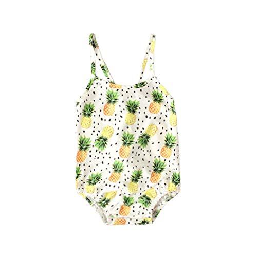 TENDYCOCO Mooie Ananas Patroon Badmode Stijlvolle Creatieve Meisjes Zwemkleding (Maat 80)