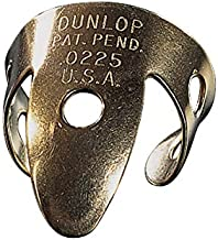 Dunlop 37R.018 Brass Tube Fingerpicks (20 Pieces) - .018