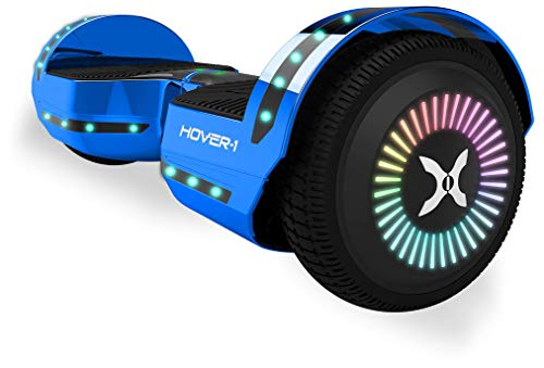 Hover-1 Chrome 2.0 Hoverboard Electric Scooter, 26 x 9.8 x 10, Blue