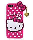 Avianna Apple i-Phone 8 Hello Kitty Back Cover Soft Silicon Girls Case 3D Printed with Heart Pendent...