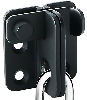 Alise Gate Latches Slide Bolt Latch Safety Door Lock 55x45mm,MS3001-B Stainless Steel Matte Black