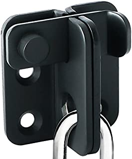 Alise Gate Latches Slide Bolt Latch Safety Door Lock 55x45mm,MS3001-B Stainless Steel Matte Black