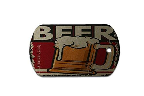 Hundemarke Erkennungsmarke Nostalgie Bier Premium Bier bedruckt