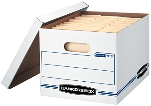 Bankers Box Stor File Storage Box With Lift Off Lid Letter Legal 12 X 10 X 15 Inches White 4 Pack 0070308 Amazon Ca Office Products