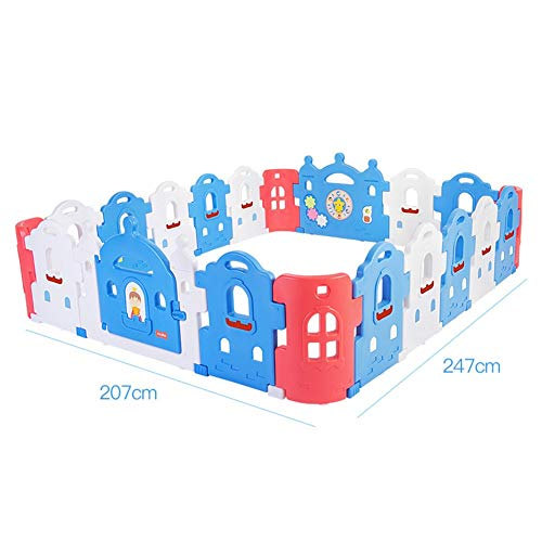 Find Bargain X/L Children's Playpen, Foldable Panel, Child Safety Play Center Fence, Easy to Carry I...