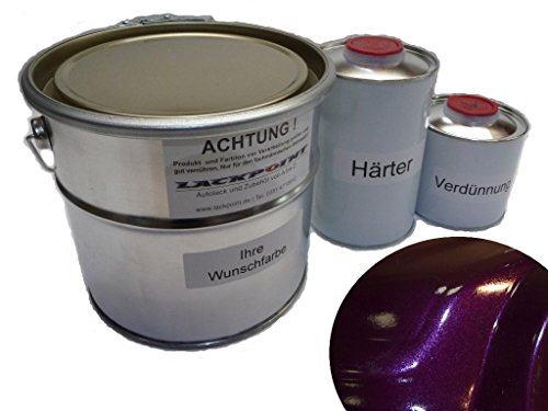 Lackpoint 1 Liter Set 2K Autolack Dark Violett Metallic kein Klarlack