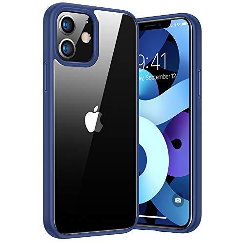 TORRAS Diamond Series Hülle Kompatibel mit iPhone 12 & 12 Pro Vergilbungsfrei Transparent Starke Stoßfestigkeit Unzerstörbare Schutzhülle Dünn Kratzfest - Blau