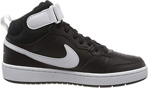 Nike Jungen Court Borough MID 2 (GS) Basketballschuhe, Schwarz (Black/White 010), 39 EU