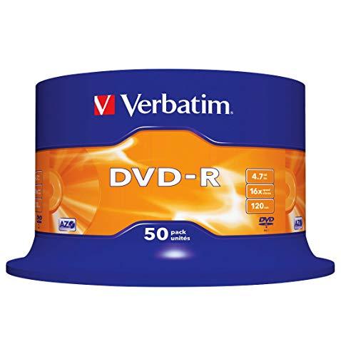 Verbatim DVD-R, bis 16fach, 50er-Spindel