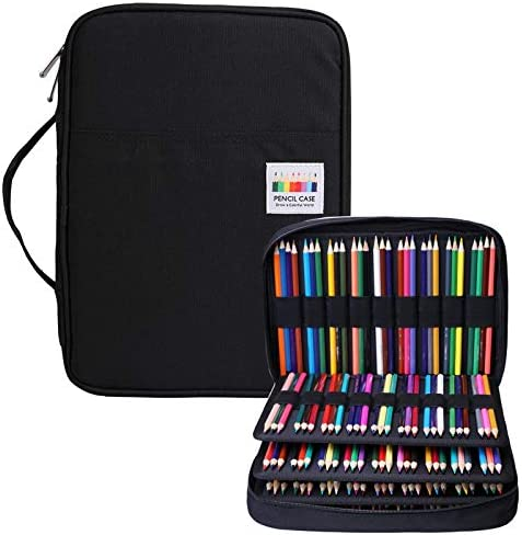 BOMKEE Pencil Case 220 Slots Colored Pencils Gel Pen Organizer Bag with Zipper for Student Kids product image