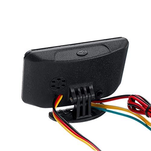 OYWNF 12v / 24v 4en1 Medidor de Coches LCD Digital de presión de Agua y Aceite Voltímetro Contador de Combustible Temperatura del Sensor de presión de Aceite 1/8 NPT