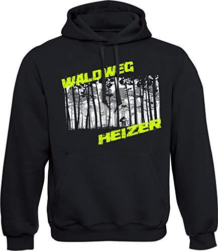 Hoodie: Waldweg Heizer - Fahrrad Kapuzenpullover für Herren & Damen - Geschenk Radfahrer Radsport - Sweatshirt Mountain-Bike MTB - BMX Fixie Rennrad Tour - Sweater Outdoor - Hoody - Kapuze-n (M)
