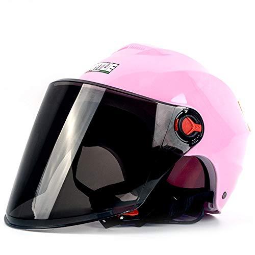 YLIK Equipo de Ciclo al Aire, de Alta definición de Objetivos, Visera, Viento Refugio Lluvia, el Sol Protección UV, para los Deportes al Aire Libre (Pink Shell + Negro Marrón Parasol)