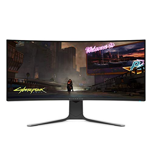Alienware AW3420DW 34 Inch WQHD (3440 x 1440) 21:9 Gaming Monitor, 1900R Curved Screen, 120 Hz, IPS, 2 ms, NVIDIA G-SYNC, DisplayPort, HDMI, 5x USB 3.1, Adjustable Stand, 3 Years Warranty, Black