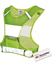 Salzmann 3M Chaleco para Correr de Alta Visibilidad - Chaleco Deportivo Transpirable Hecho de Tejido de Malla - Hecho con 3M Scotchlite