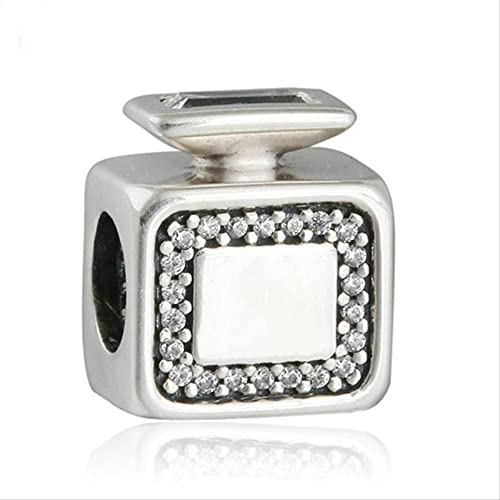Plata de Ley 925 Pave Signature Scent Perfume Bottle Charm Beads para Charm Making Fit Charm