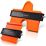 Coonsto Contour Gauge – Premium Construction Contour Tool for Professionals – Durable ABS Plastic Shape Gauge Duplicator – 5-inch Widen with Metal Core and 10-inch Widen with Metal Lock