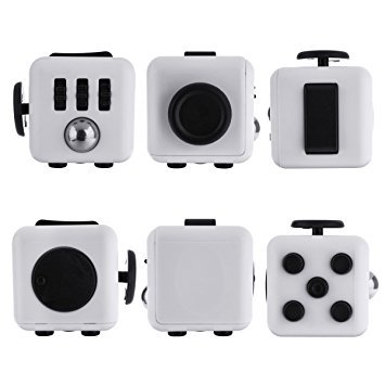 FIDGETARIAN Anti-Stress Cube Galactique Design (Blanco)