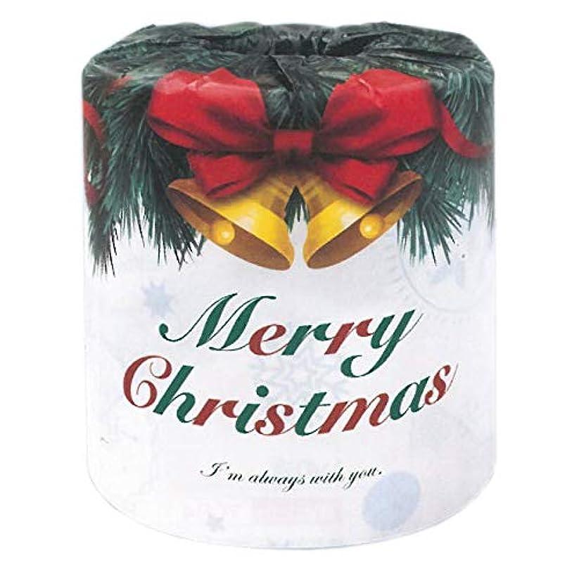 儀式スクレーパー先にハッピークリスマス クリスマスロール 2枚重ね 27.5m巻