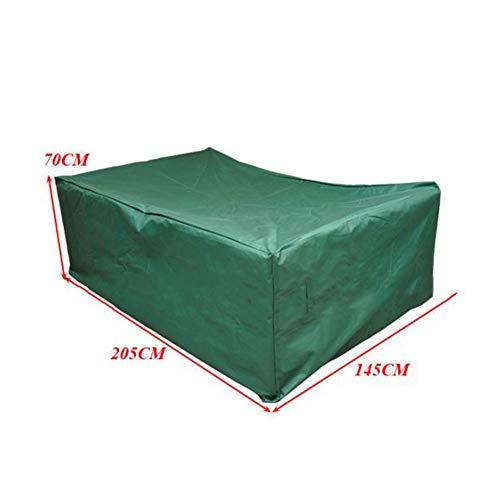 RUANMU Meubles Couverture Couvercle De Protection Couverture De Meubles, Noir Tissu Oxford Couverture De Table/Chaise, Imperméable/Crème Solaire,Green,205 * 145 * 75Cm