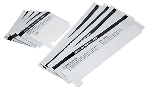 Cleanmo Repair Cleaning Kits for ZXP Series 1 and 3 ID Card Printer, Pack of 4 Short T Cards and 4 Long T Cards