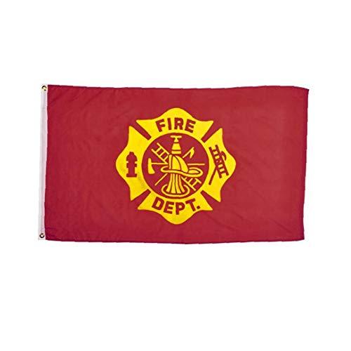 fedsjuihyg Praktische Feuerwehr Flagge Durable US-Feuerwehrmann-Flagge tragbares Metall Grommet Flagge für Festival Veranstaltungen 1pc