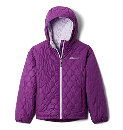 Columbia Girls' Big Bella Plush Jacket, Plum, Large