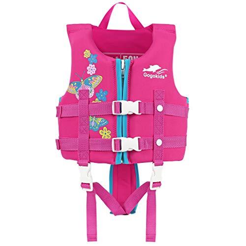 Giacca da Nuoto per Bambini Folat Jacket Toddler Swimming Jacket Float Jacket Giacca da Allenamento per Nuoto per 17-77 lbs Neonato/Bambini. (Pink, M)