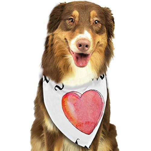 Alles wat je nodig hebt is liefde aangepaste hond kat hoofddoek set geschikt voor kleine tot grote hond katten