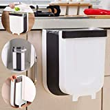 LALASTAR Hanging Small Trash Can for Kitchen, Foldable Trash Bin for Kitchen Cabinet Door, Drawer, Car, RV, Collapsible Waste Bin 9 Liter / 2.4 Gallon, White