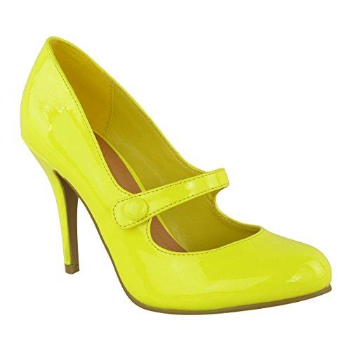 Mujer Medio bajo Tacón Alto Tira en Tobillo Zapatos de Salón Zapatillas Trabajo Sandalias Números