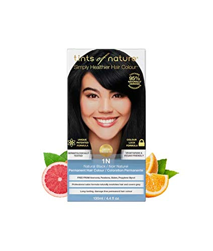 Tints of Nature 1N Natural Black Permanent Hair Dye, Single