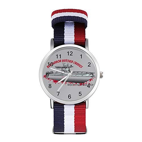 Bay Harbour Butcher Cruises Dexter - Reloj de pulsera trenzado con escala