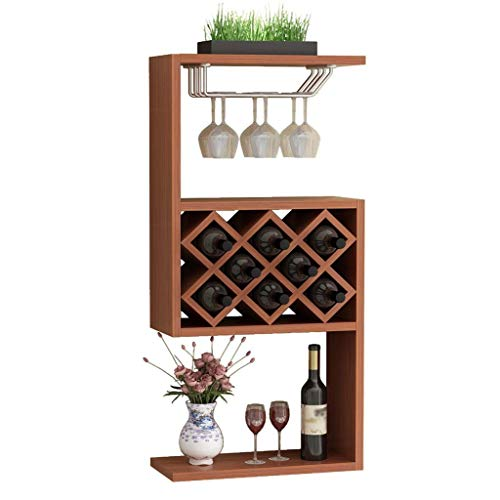 POETRY Estantes para Vino Gabinete para Vino de Madera montado en la Pared 8 Botellas Estante para decoración de Pared Simple y Moderno para Restaurante para el hogar para Pared (Color: Color