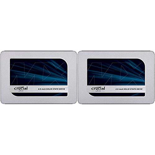 Crucial MX500 CT250MX500SSD1(Z) 250GB (3D NAND, SATA, 2,5 Zoll, Internes SSD) + 500GB (3D NAND, SATA, 2,5 Zoll, Internes SSD)