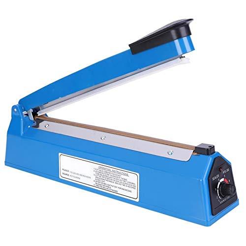 Sellador de bolsas PFS-300 270W, sellador manual portátil, sellador de bolsas de embalaje de plástico de impulso de 12 pulgadas, para el hogar, artesanía familiar, almacén, supermercado(220 V)