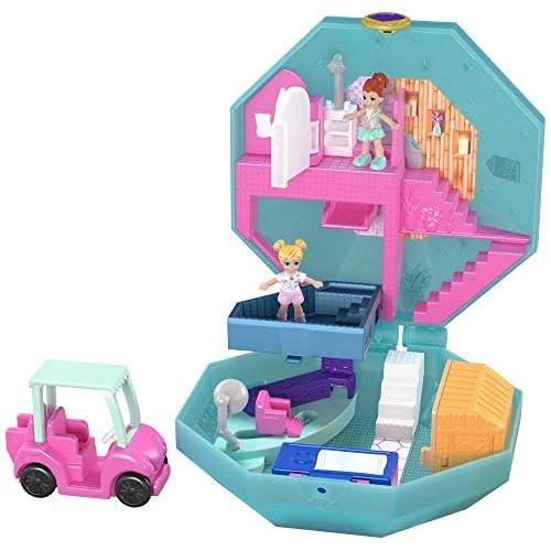 Polly Pocket- Cofanetto Golf Club, con 2 Mini Bambole, un Veicolo e Accessori, Giocattolo per Bambini di 4+ Anni, Multicolore, GDK81