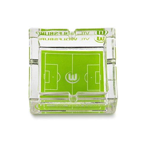 VfL Wolfsburg Aschenbecher Spielfeld Design aus Glas