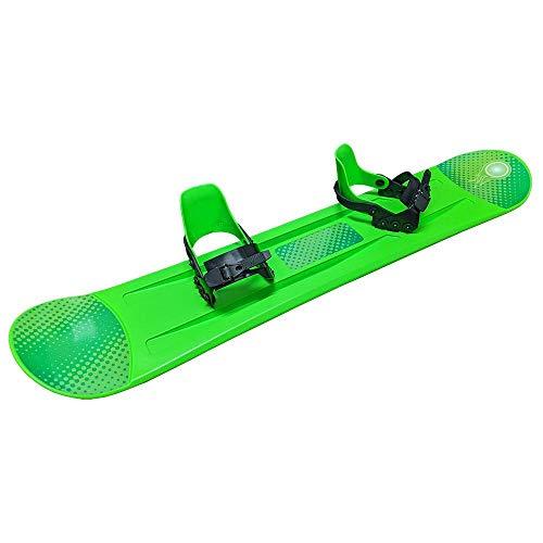 Grizzly Snow Deluxe 120cm Kid's Beginner Freeride Snowboard, Green
