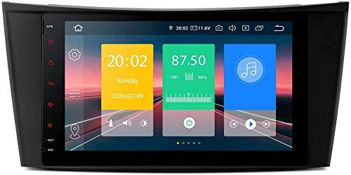 FGVBC Bluetooth 5.0 Car Stereo Car Radio 8 Pulgadas Unidad Principal Navegación GPS Soporte Plug & Play CarAutoPlay 4G / WiFi DVR Dab + TPMS para Mercedes Benz Clase E W211 W240