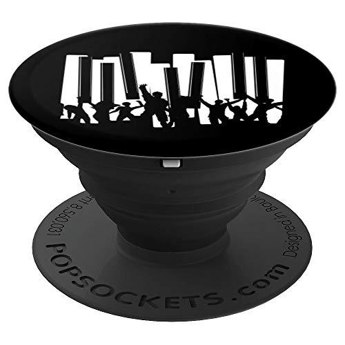 Piano Fans Concierto Reproductor Pianista Teclado Regalo PopSockets Agarre y Soporte para Teléfonos y Tabletas